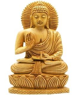 Benzara 75188 Antique White Polystone Buddha