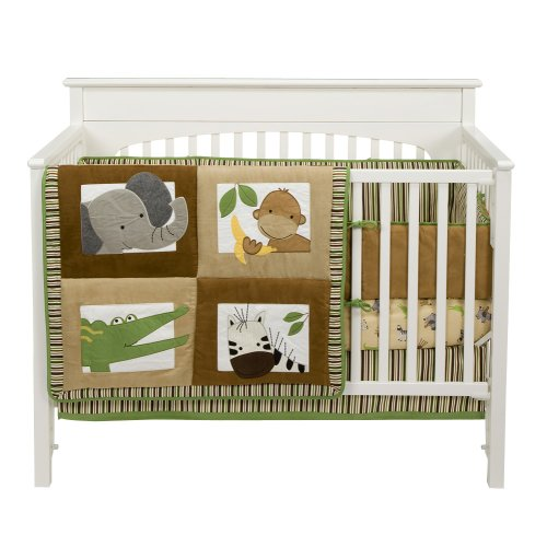 Bedtime Originals Baby Zoo Baby Crib Bedding Set - Chocolate