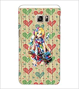 PrintDhaba Cute Girl D-3201 Back Case Cover for SAMSUNG GALAXY NOTE 5 (Multi-Coloured)