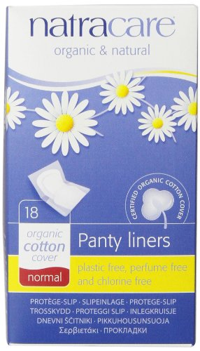 Natracare Normal Wrapped Panty Liners, 18 Count