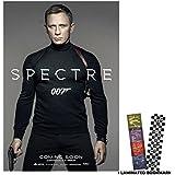 "Spectre 007 (2015) - James Bond - Movie Poster Reprint 13"" x 19"" Borderless"