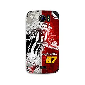 ezyPRNT Micromax Canvas 2 A110 Fabio Quagliarella Football Player mobile skin sticker