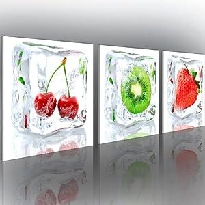 neuheit glasbilder bild deko glass glasbild obst k che 60x20 cm 030207 24 k che. Black Bedroom Furniture Sets. Home Design Ideas