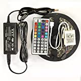 XKTTSUEERCRR 5M 16.4Ft RGB 5050SMD 300LED Waterproof Flexible LED Light Strip lamp + 44Key IR Remote + Power Supply Adapter