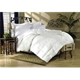1200 Thread Count California King 1200TC Siberian Goose Down Comforter 750FP, White Solid 1200 TC
