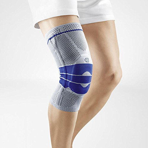 Bauerfeind - GenuTrain - Knee Support Brace - Targeted Support for Pain Relief and Stabilization of The Knee - Size 4, Comfort - Color Titanium (Color: Titanium, Tamaño: 4C)