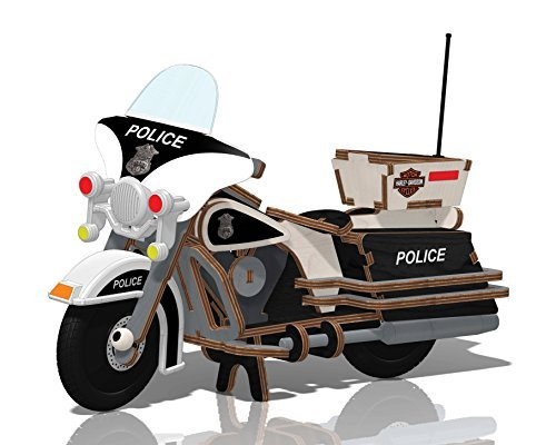 Kids Preferred Buildex Wood Build -N- Play Toy, Harley Police Cruiser