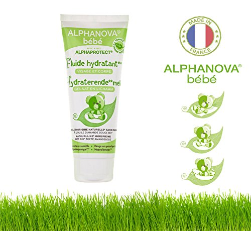 Alphanova Bebe-Organic Moisturizing Cream For Baby Mild Dryness (Face and Body)- With Organic Sweet Almond Oil (100ML)