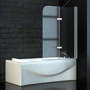 Zelsius  Glas Trennwand Badewannenfaltwand, Wannen Abtrennung 120 x 140 cm   Kundenbewertung und weitere Informationen