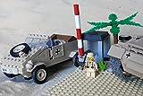 Modbrix 2339 - ✠ Afrika Korps Set VW Kübelwagen Typ 82 mit Wachhäuschen inkl. custom Wehrmacht Soldaten aus original Lego© Teilen ✠ thumbnail