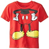 Disney Little Boys' Mickey Mouse Headless, Red, 4T