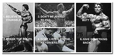 Arnold Schwarzenegge Bodybuilding Motivational Art Silk Poster 24x50inches
