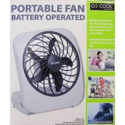 """""""Abc Products"""" - Fan-On-The-Go ~ 5 Inch Blade - Portable Fan - Battery Operated (Compact Size With Folding Base - Light Gray Finish)."""