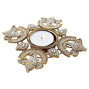 Amazon.com - Diwali Diya Hand Crafted with Studded Stones & Ganesha