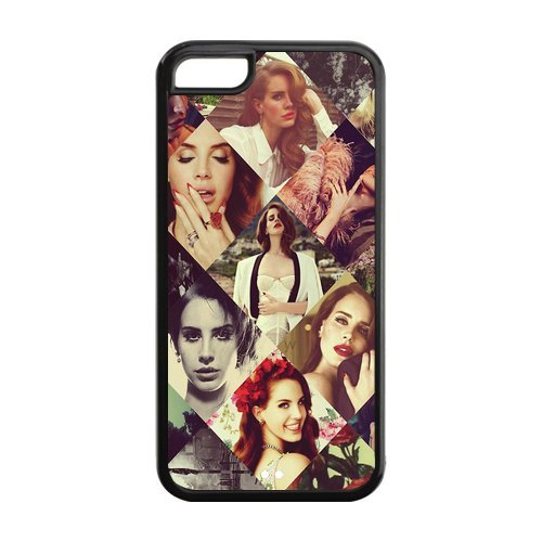 Mystic Zone Personalized Popular Superstar Lana Del Rey Cover Case for Iphone 5C TPU (Cheap IPhone5)