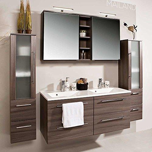 Badezimmermbel-Set-mit-Doppelwaschtisch-Eiche-dunkel-4-teilig-Pharao24