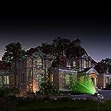 MICTUNING Sternenprojektor Wasserdicht 2-in-1 Garten Licht Weihnachten Dekoration Leuchte mit Fernbedienung für Party,Disko,Feiertage Mehr