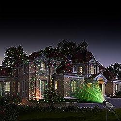 2-in-1 Fantastische Dekoration Licht Unter Kontrolle von einer infraroten Fernbedienung leuchtet das MICTUNING 2-in-1 Licht Rot Funke und grüne statische oder dynamische Licht Punkte, sieht wie Glühwürmchen im Himmel aus, und wie Blühen von Tausend S...