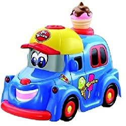 Zest 4 Toyz Battery Operated Bubble Ice Cream Car Toy for Babies & Toddlers Light & Sound