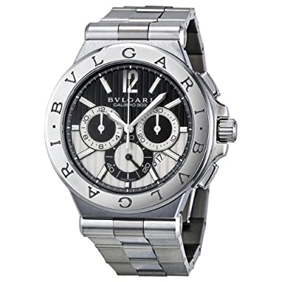 Bvlgari Diagono Chronograph Automatic Black and Silver Dial Mens Watch 101880