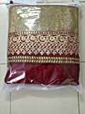Adorn Mania Maroon Silk Zari Embroidered Lehenga Choli
