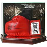 MIKE TYSON GLASS BOXING GLOVE CUSTOM UV-PROTECTED (TO PREVENT FADING) DISPLAY CASE