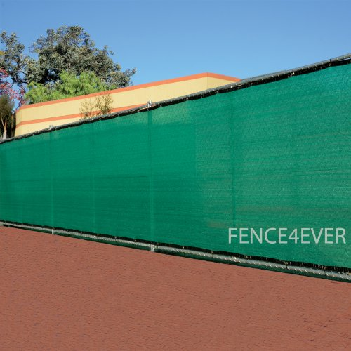6'X12' Green Fence Privacy Screen Windscreen Cover Shade Cloth Mesh Fabric Slats Yard front-86996