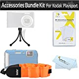 Float Strap Accessories Bundle Kit For Kodak PlaySport (Zx5) HD Waterproof Pocket Video Camera Includes Mini Flexible Tripod + Floating Strap + LCD Screen Protectors + MicroFiber Cleaning Cloth