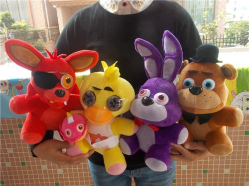 fnaf-five-nights-at-freddys-chica-bonnie-foxy-plush-doll-toy-xmas-gift-set-of-4