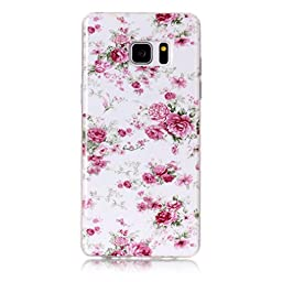 Galaxy Note 7 (2016) Case, Firefish Slim Soft Flexible Thin [SOFT-FLEX] Gel TPU Protective Skin Scratch-Proof Case for Samsung Galaxy Note 7-A-Flower