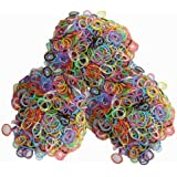 Latex-free Silicone Refill Bands - 1800pcs Mixed Colors with 85+ C_clips and S_clips Mix.