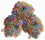 1800 Mixed Rubber Band Color Bands with c and s clip Combination