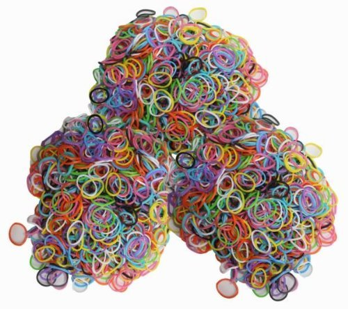 Latex-free Silicone Refill Bands for - 1800pcs Mixed Colors with 85 S-clips Mix