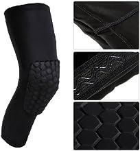 World Pride Antislip Basketball Leg Knee Long Sleeve Honeycomb Pad Protector Gear