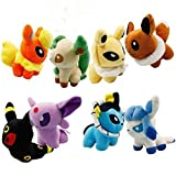 """Firebeast Pack Of 8 Pcs Pokemon Pokedoll Plush Toy Soft Doll Set 5"""" Collectible Doll"""