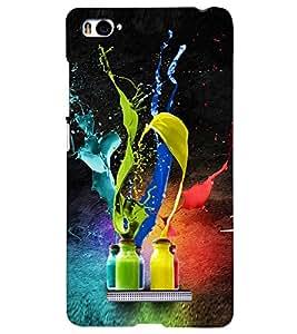 PRINTSHOPPII COLOR ART Back Case Cover for Xiaomi Redmi Mi4i::Xiaomi Mi 4i