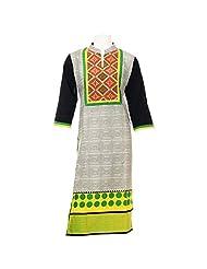 Prachi Creations Women's Traditional Cotton Kurti (Multi-Color)