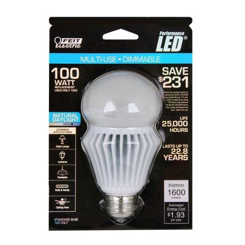 Feit Bpag1600Dm/5K/Led Utility A19/Globe Led Dimmable 1600 Lumen, 5000K