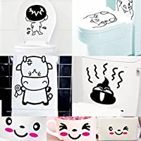 7pcs Cute Cartoon Removable Bathroom Toilet Stickers Vinyl Art Decal Home Décor from Generic