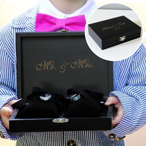 Ring Bearer Keepsake Box - Black back-991300