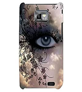 ColourCraft Beautiful Eye Design Back Case Cover for SAMSUNG GALAXY S2 I9100
