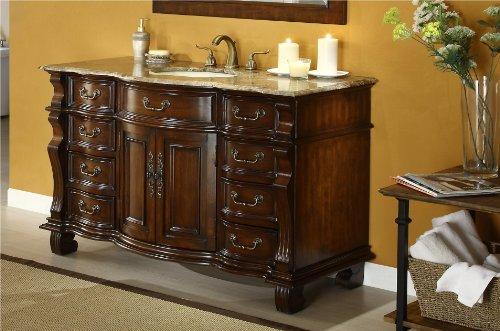 "60"" Finest Workmanship And Details Large Single Basin Hopkinton Bathroom Sink Vanity Model Cf-4437B-60"