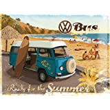 Nostalgic-Art 23129 Volkswagen VW Bulli, Ready for the Summer, Blechschild, 30 x 40 cm