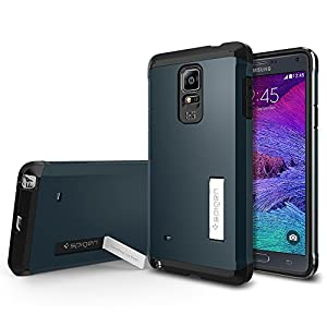 Galaxy Note 4 Case, Tough Armor Case for Note 4 - Retail Packaging - Metal Slate (SGP11140)