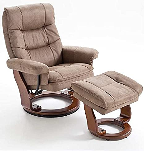 Relaxsessel, modernes Design, manuell verstellbar, 100 kg, braun