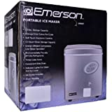Emerson Portable 26 lbs Ice Maker Refrigerator w/Ice Scoop & Electronic Controls