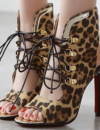 Animal nocheVestidoCasual Print Toe Sintético Stiletto sandalias bodafiesta de Tacón Peep mujer Zapatos y Pqv1wx