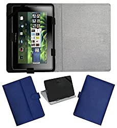 ACM LEATHER FLIP FLAP TABLET HOLDER CARRY CASE STAND COVER FOR BLACKBERRY PLAYBOOK 4G BLUE