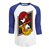img - for FOODE Men's Flash Opposing Forces The Super Hero 3/4 Sleeve 100% Cotton Baseball Tee/T Shirts RoyalBlue book / textbook / text book