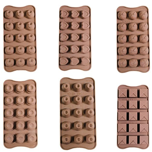 Silicone Ice Chocolate Cake Jelly Candy Mould Sweet Tray- Set of 6- By Kurtzy TM